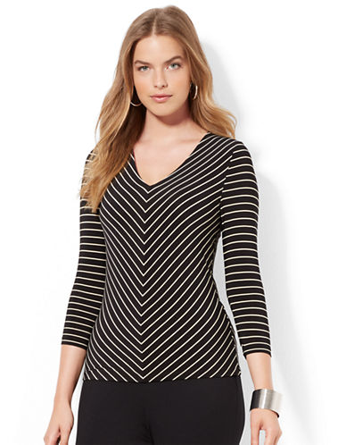 LAUREN RALPH LAUREN Plus Three Quarter Sleeve Top