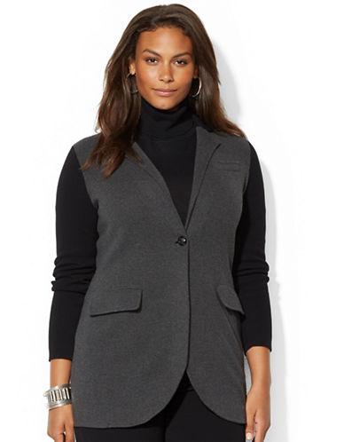 LAUREN RALPH LAURENPlus Color Blocked Sweater Coat