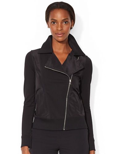 LAUREN RALPH LAUREN Stretch Cotton Moto Jacket