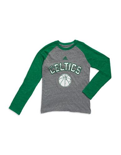 REEBOKBoys 8-20 Celtics Raglan Sleeved Shirt
