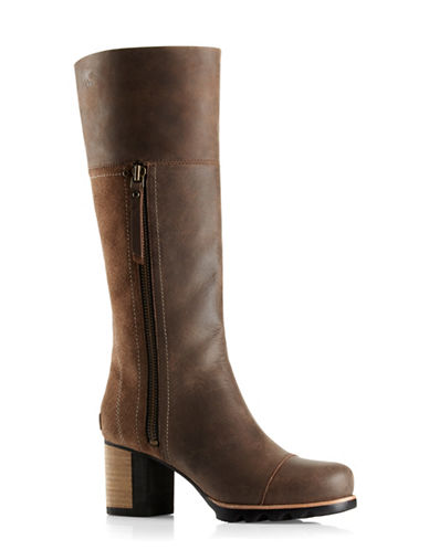 Buy Addington Waterproof Leather Tall Boots by Sorel online