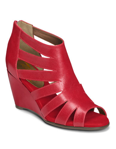 AEROSOLESSouthern Lights Leather Strappy Wedge Sandals