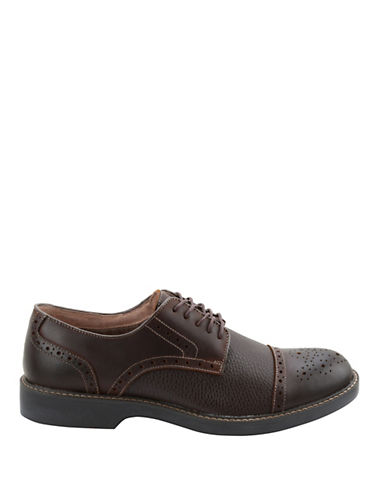 BASS Perkins Leather Cap Toe Brogue Oxfords