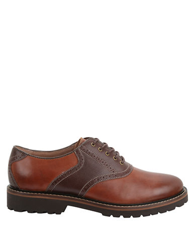 BASS Edison Leather Two Tone Saddle Shoes