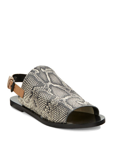ELIE TAHARI Sunset Laser Cut Leather Flats