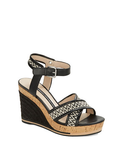 FRENCH CONNECTIONLata Leather Platform Wedge Sandals