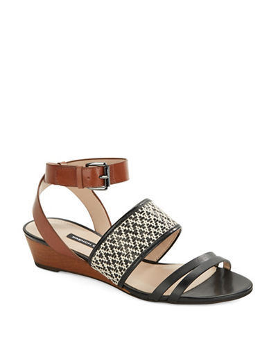 FRENCH CONNECTIONWiley Leather Wedge Sandals