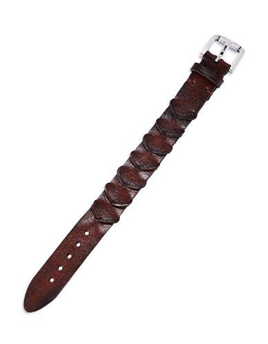 JOHN VARVATOS U.S.A.Handworked Scalloped Leather Bracelet