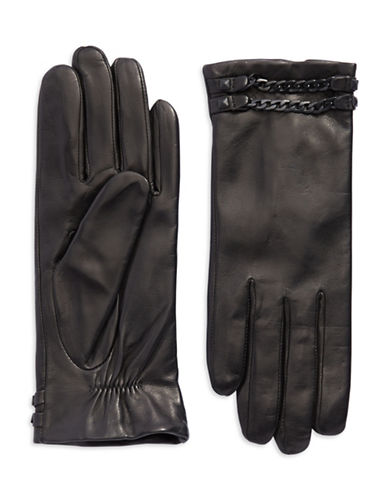 VINCE CAMUTOChain Accented Leather Gloves