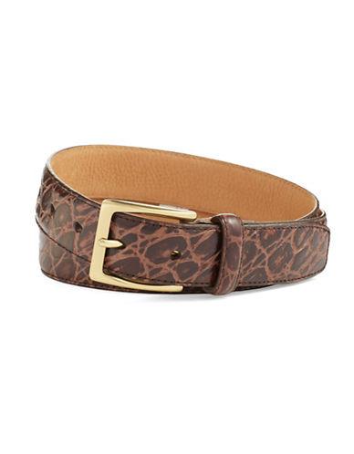 COLE HAANCrocodile Embossed Leather Belt