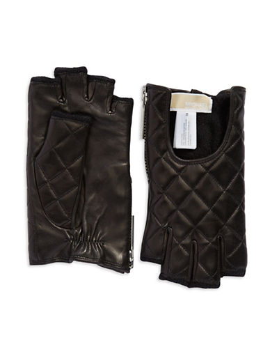 MICHAEL KORSQuilted Leather Fingerless Gloves