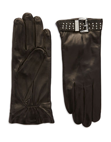 MICHAEL KORSBuckle Accented Leather Gloves
