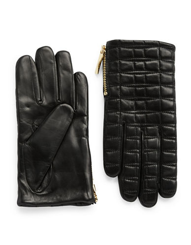 KATE SPADEQuilted Leather Driving Gloves