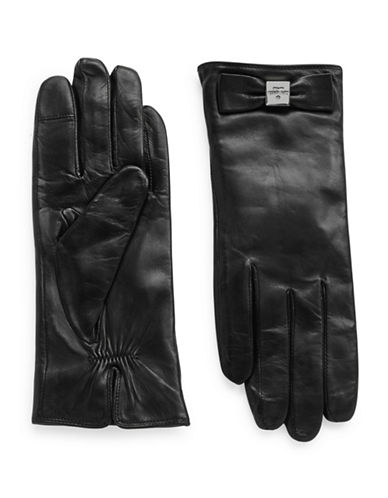 KATE SPADEColorblock Leather Driving Gloves