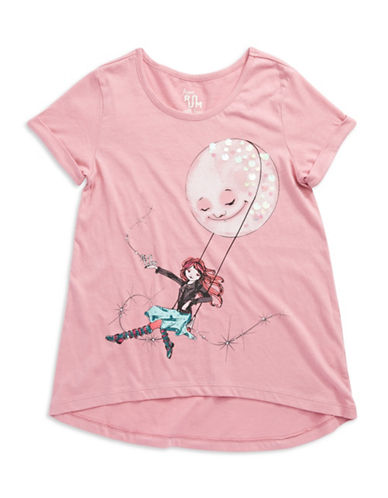 RUUM Girls 7-16 Graphic Moon Tee Shirt