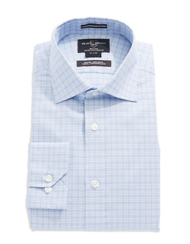 BLACK BROWN 1826 Fitted Checkered Dress Shirt