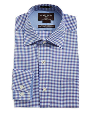BLACK BROWN 1826 Classic-Fit Checkered Dress Shirt