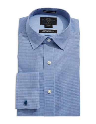 BLACK BROWN 1826Fitted Checkered Dress Shirt