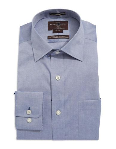 BLACK BROWN 1826Textured Oxford Cotton Dress Shirt