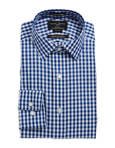 BLACK BROWN 1826 Fitted Gingham Dress Shirt