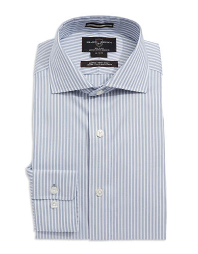 BLACK BROWN 1826Fitted Striped Dress Shirt