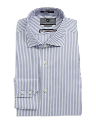 BLACK BROWN 1826 Slim-Fit Striped Dress Shirt