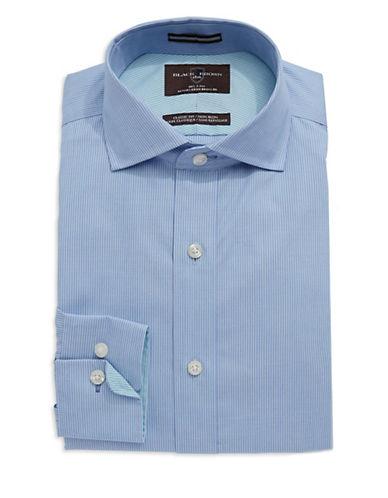 BLACK BROWN 1826Striped Cotton Dress Shirt