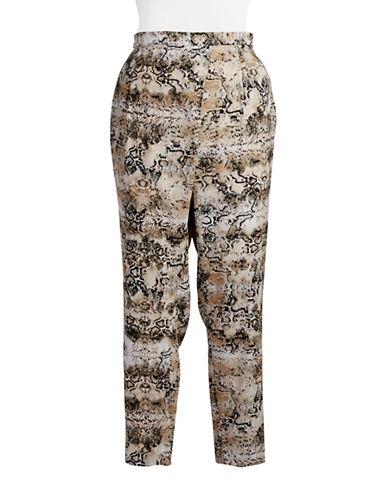Plus Animal Print Pants plus size,  plus size fashion plus size appare