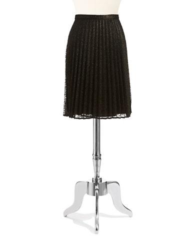 CALVIN KLEINMetallic Pleated Skirt
