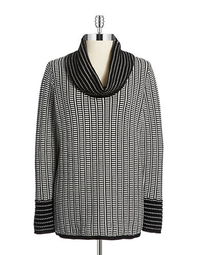 CALVIN KLEIN Patterned Cowl Neck Sweater