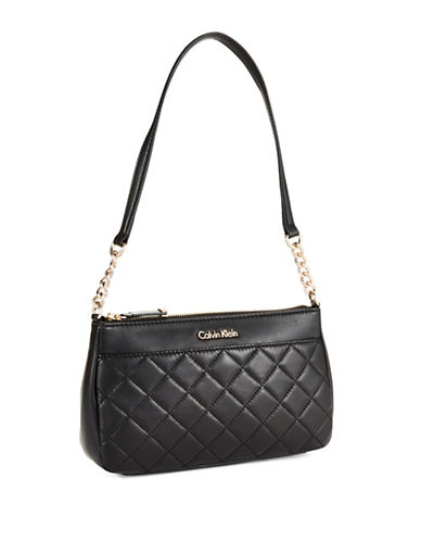 CALVIN KLEIN Quilted Leather Shoulder Bag