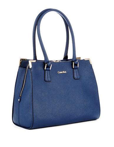 CALVIN KLEINLeather Satchel Bag