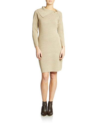 Shop Calvin Klein online and buy Calvin Klein Long-Sleeved Sparkle Sweater Dress dress online
