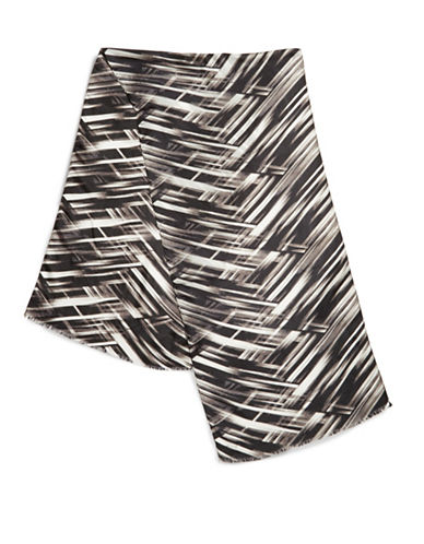 CALVIN KLEIN Silk Striped Scarf