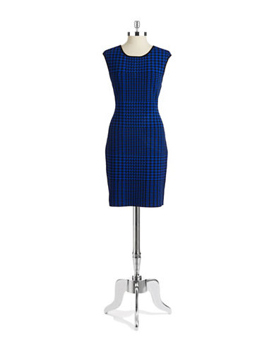 CALVIN KLEIN Houndstooth Sheath Dress
