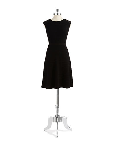 CALVIN KLEINA Line Dress With Mesh Inserts