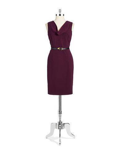 CALVIN KLEINCowl Neck Sheath Dress