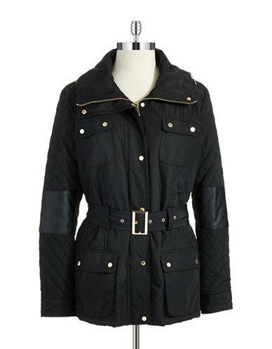 CALVIN KLEIN WOMENSPlus Belted Quilt Jacket