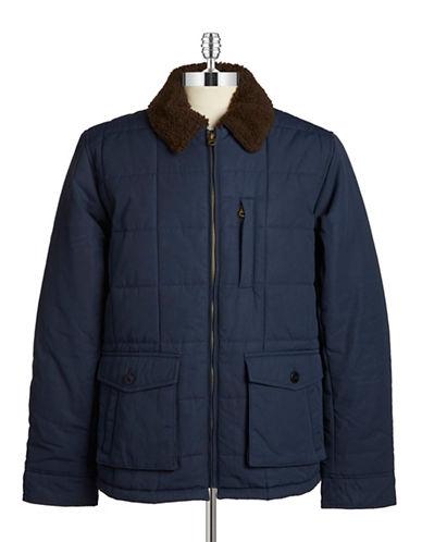 Brooks Brothers Red Fleece Fleece-Trimmed Quilted Coat