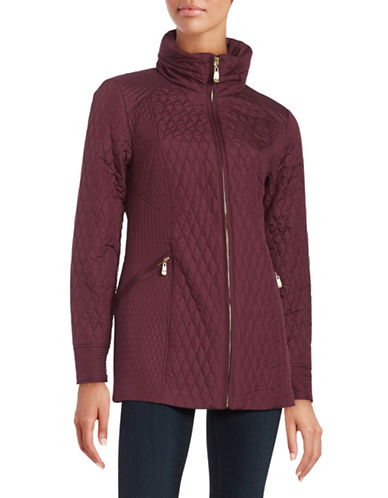 ellen tracy female  mixed quilted coat