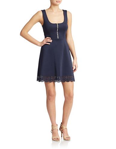 GUESSScuba Zip Placket A-Line Dress
