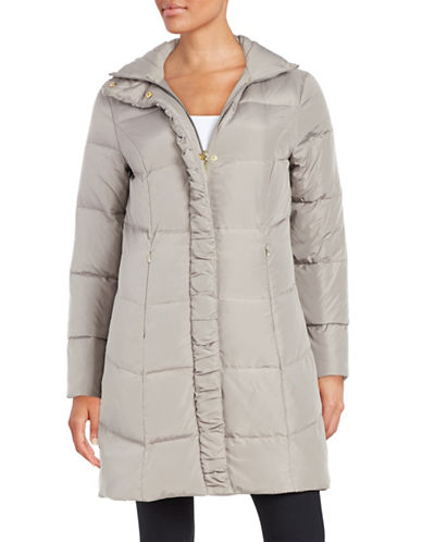 ellen tracy female 123848 quilted faux furlined jacket