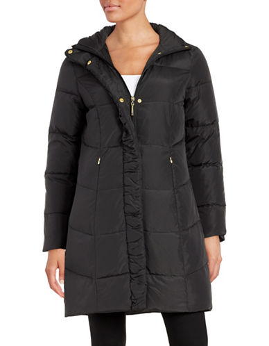 ellen tracy female 188971 quilted faux furlined jacket