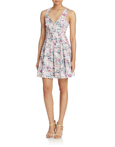 Shop Guess online and buy Guess Zip Front Fit and Flare Dress dress online