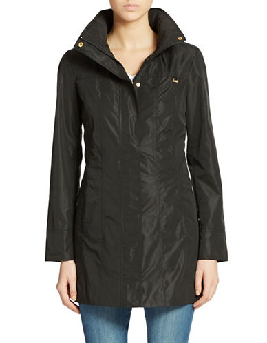 Ellen Tracy Plus Packable Rain Jacket