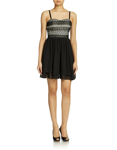 Shop Guess online and buy Guess Crocheted Strapless Dress dress online