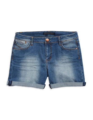 Tinsel Cuffed Denim Shorts