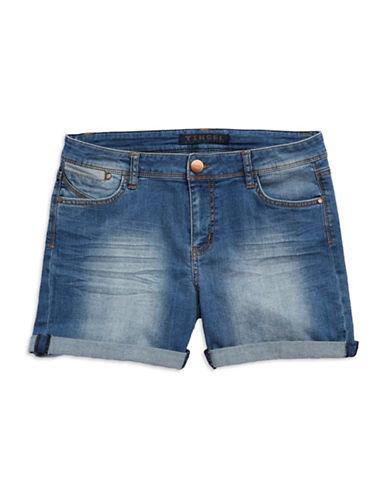 Tinsel Cuffed Denim Shorts