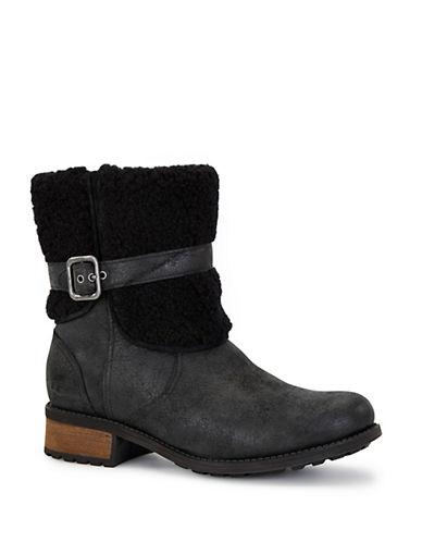 UGG AUSTRALIABlayre Sheepskin-Trimmed Boots