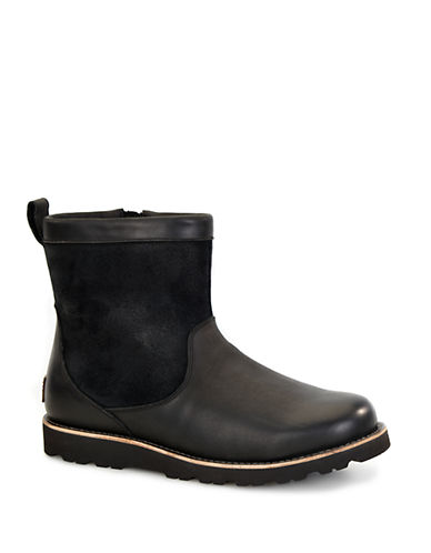 UGG AUSTRALIA Munroe Shearling-Lined Leather Boots